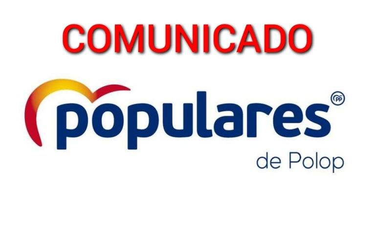 Comunicado del Partido Popular de Polop