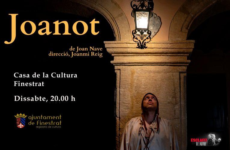 Finestrat acoge hoy el monólogo «Joanot» dedicado a Tirant lo Blanc y su autor